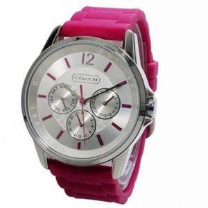 COACH CHRONOGRAPH SPORT SILICON RUBBER STRAP watch